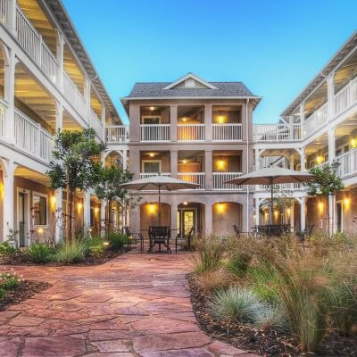 Bradley Studious courtyard and balconies