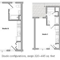 Floor plan of Bradley Studios