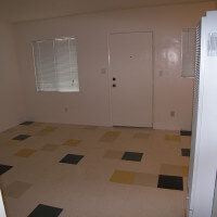 Inside a unit, showing the living room