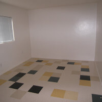 Inside a unit, showing an empty room