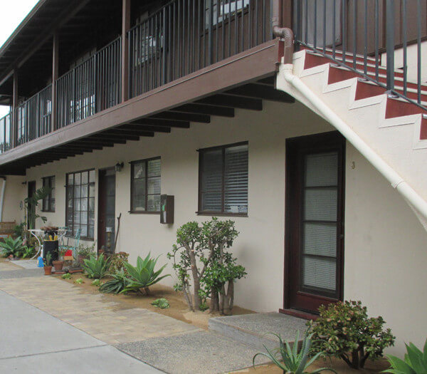Outside view of the units and balcony
