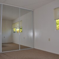Villa Santa Fe apartment bedroom and mirror closets