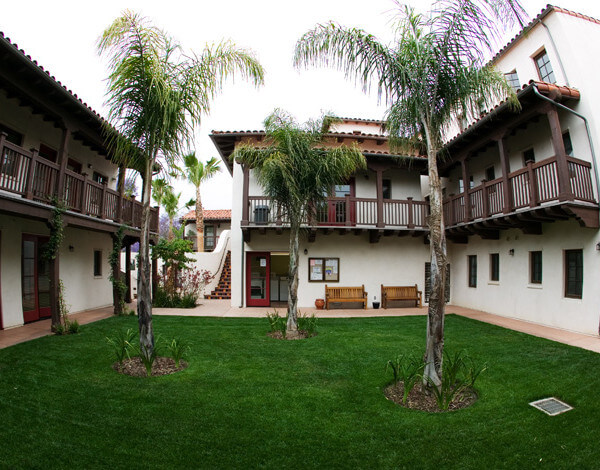 Outside view of the courtyard and units