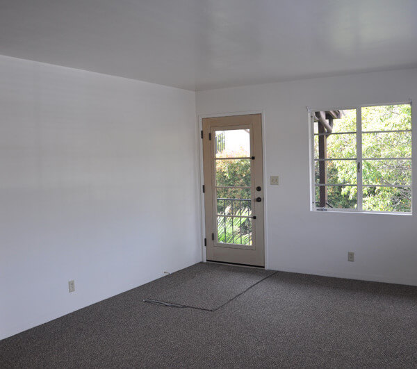 Inside a unit, view of the living room