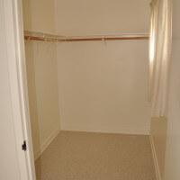 Inside a unit, view of inside the closet