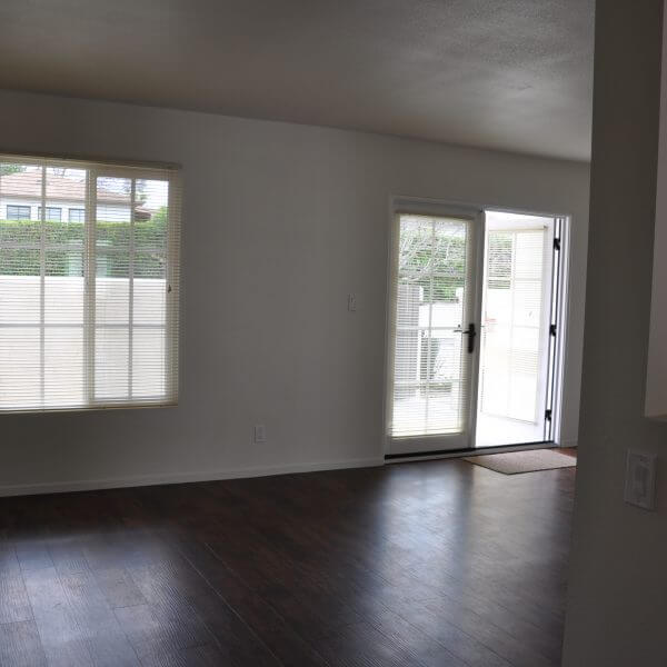 Living room of a unit in Sycamore Gardens