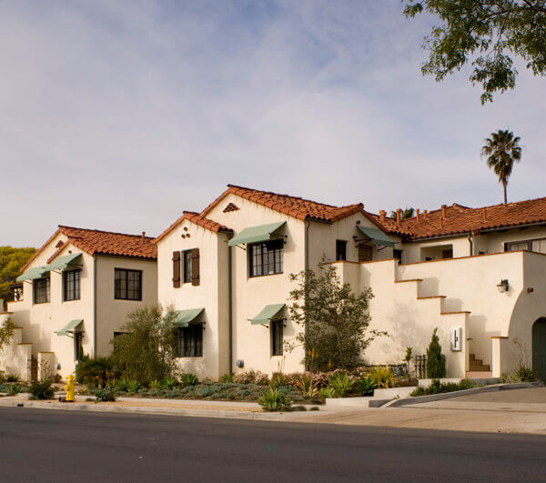 Street view of Voluntario housing