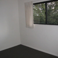 Inside a unit, view of the window