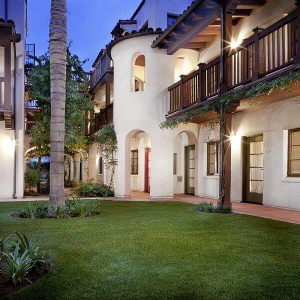 Courtyard view at El Carillo