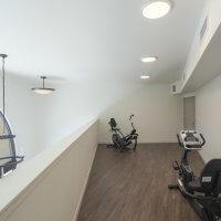 Exercise equipment in loft