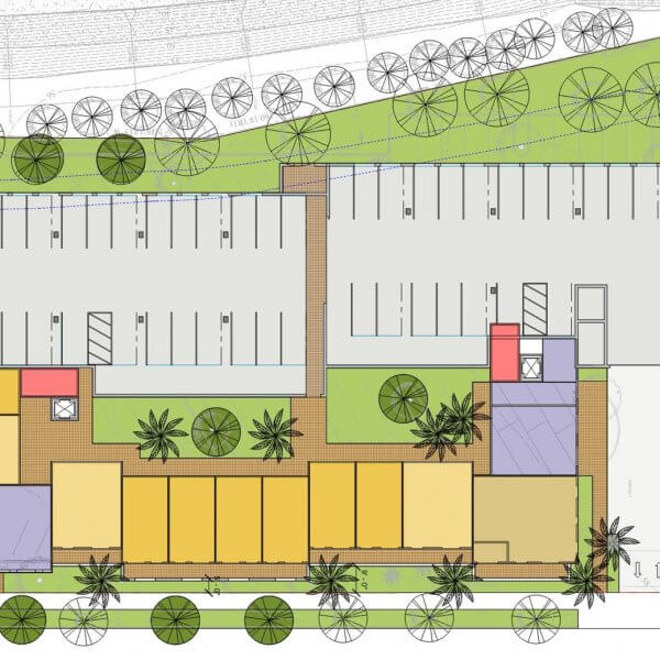 Proposed Development Drawing for 400 W. Carrillo Street -