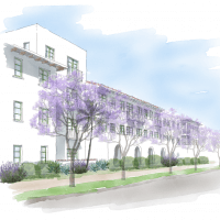 Proposed Development Rendering for 400 W. Carrillo Street
