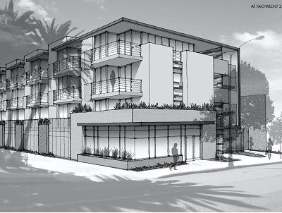 Architect rendering of building