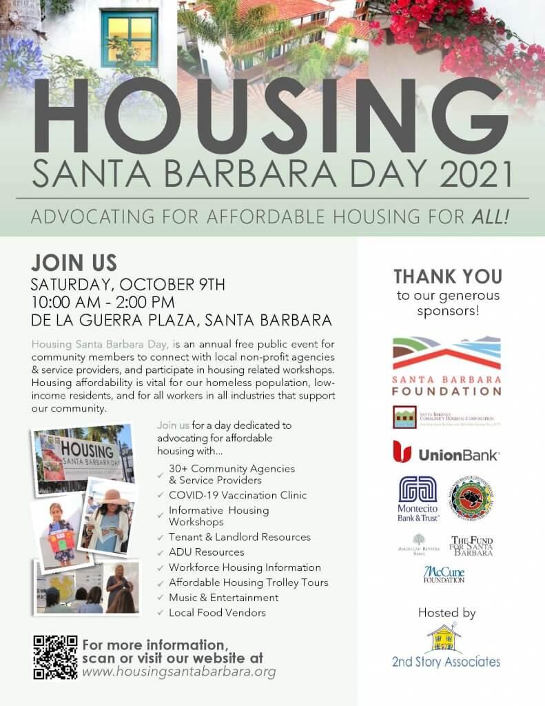 Photos of people at Housing Santa Barbara Day